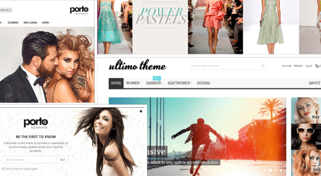 Ready-made Magento front-end themes: Milano, Ultimo, Porto