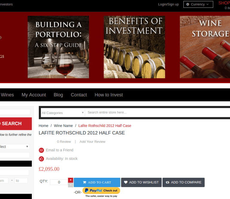 Invest Into Wine – Magento Site Audit and Support