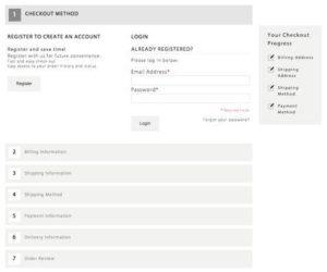 Default Magento Checkout