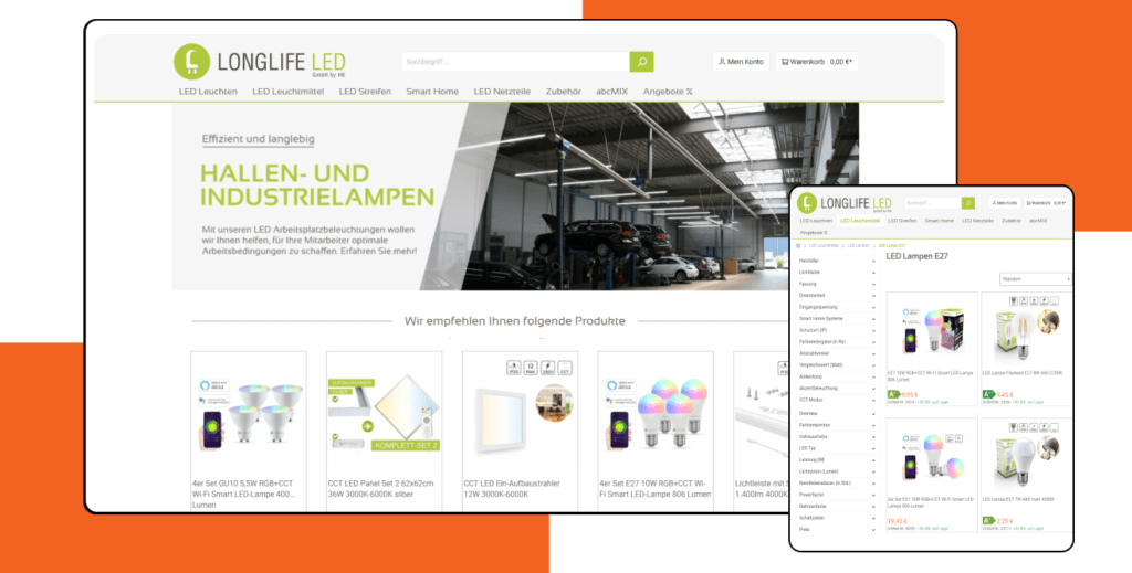 LongLife LED – Magento Store Development and Optimization