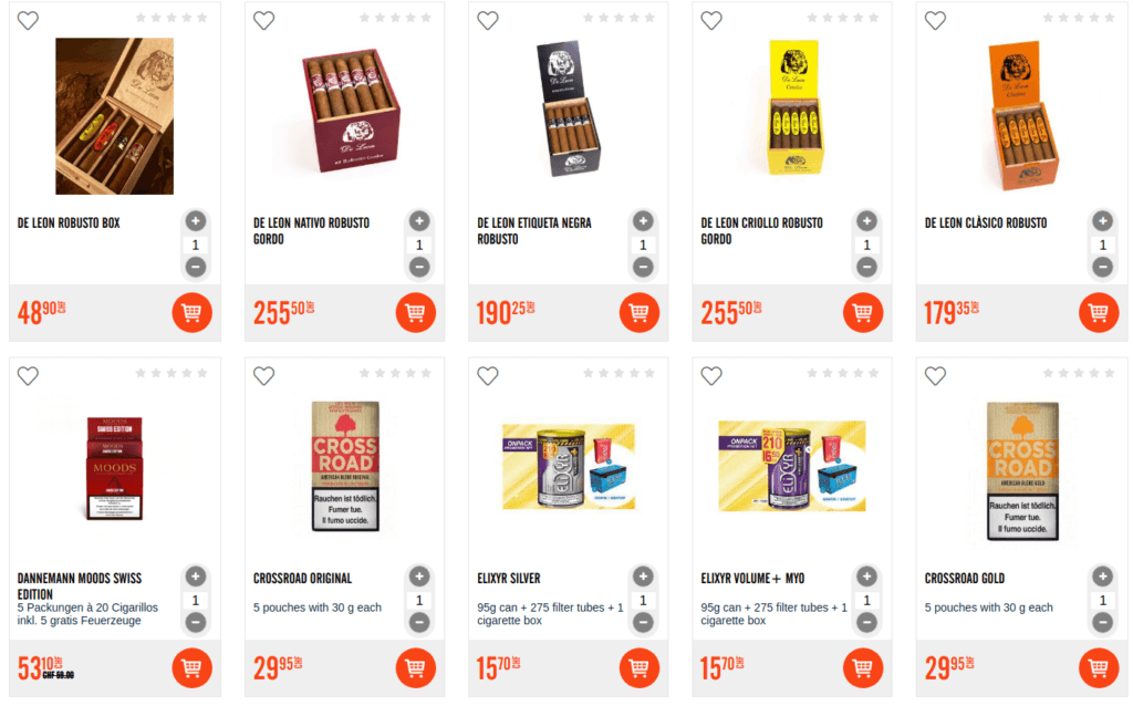 Cigars , Sweets, Alcohol – Swiss Magento 2 online store