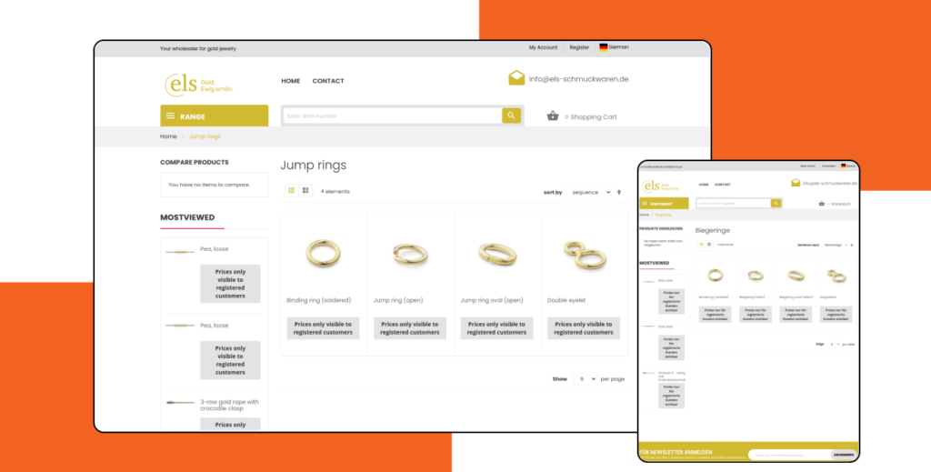ELS-Schmuckwaren – Development of Luxury Goods and Jewelry Magento Store
