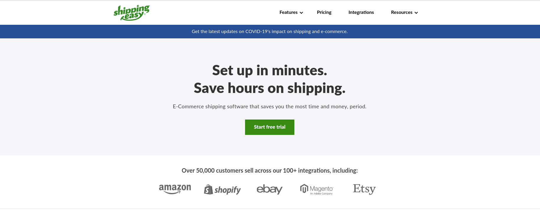 ShippingEasy Home Page