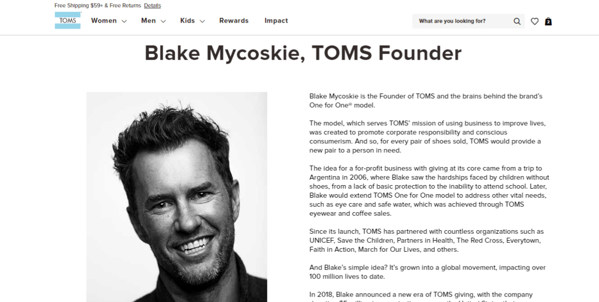 TOMS Founder Story