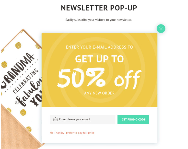 eCommerce pop-ups