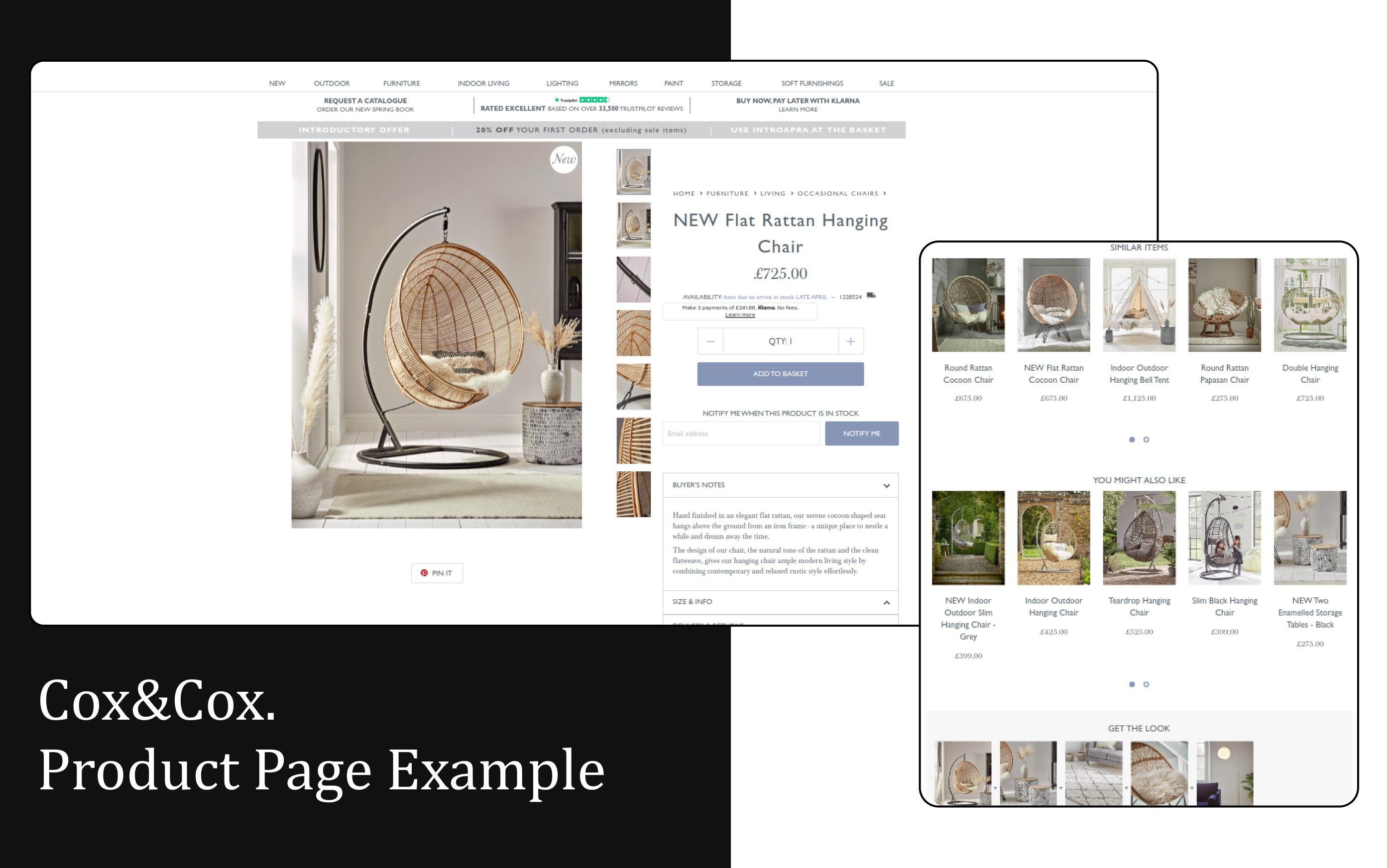 Cox&Cox. Product Page Exaple that really converts