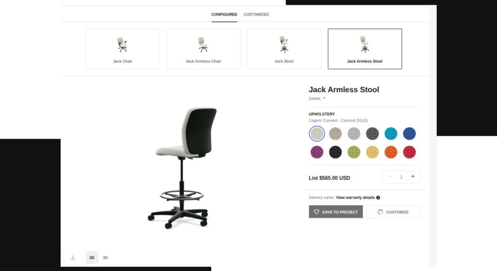 Steelcase - configurable products in Magento 2