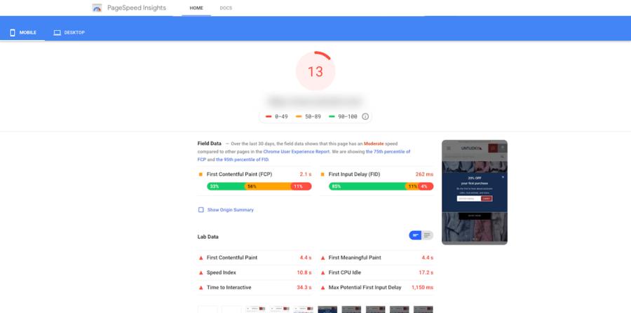 Shopify site optimization