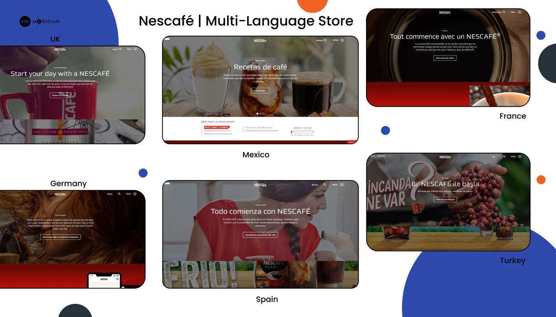 The Best Shopify Stores - Nescafé _ Multi-Language Store